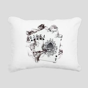 SmokinRoyalFlush Rectangular Canvas Pillow