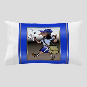 mailCarrierMouseBLWoman Pillow Case