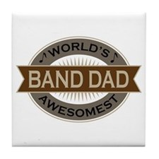 Awesome Band Dad Tile Coaster