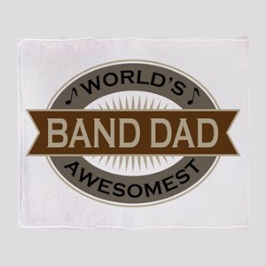 Awesome Band Dad Throw Blanket