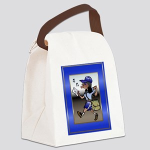 mailCarrierMouseBLWoman Canvas Lunch Bag