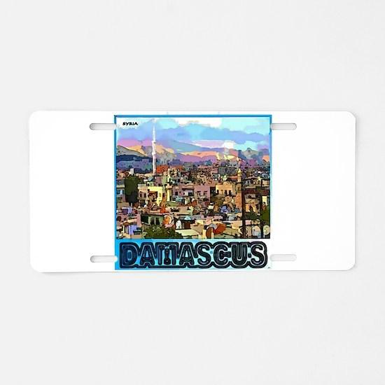 Damascus Aluminum License Plate