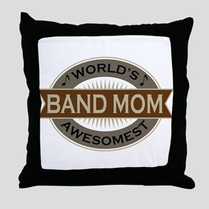 Awesome Band Mom Throw Pillow