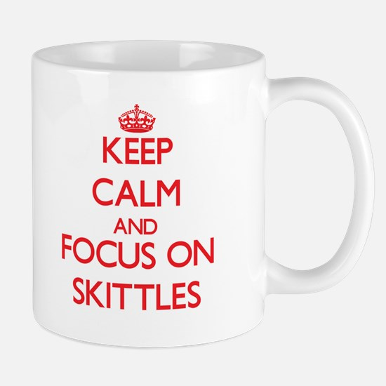 Keep calm and focus on Skittles Mugs