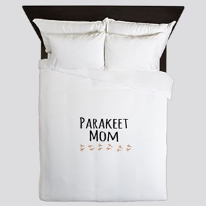 Parakeet Mom Queen Duvet
