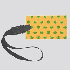 Pot Weed High Hippie 420 Gold Luggage Tag