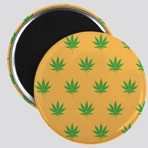 Pot Weed High Hippie 420 Gold Magnets
