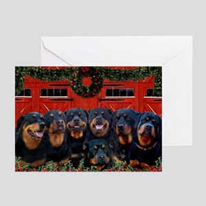 Merry Rottie Christmas Rottweilers (pk of 20)