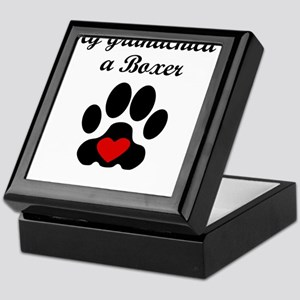 Boxer Grandchild Keepsake Box