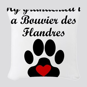 Bouvier des Flandres Grandchild Woven Throw Pillow