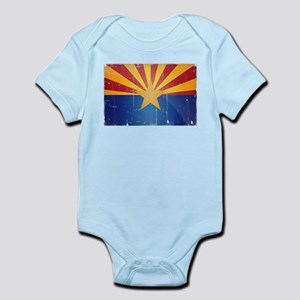 Arizona Flag Distressed Infant Bodysuit