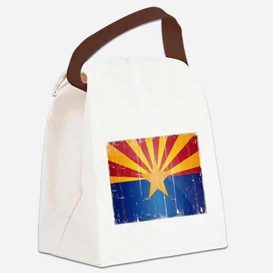 Arizona Flag Distressed Canvas Lunch Bag