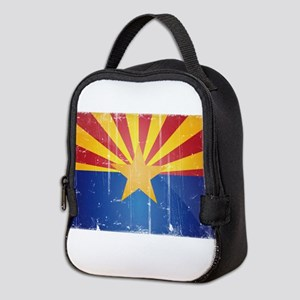 Arizona Flag Distressed Neoprene Lunch Bag