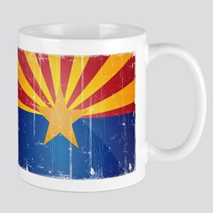 Arizona Flag Distressed Mug