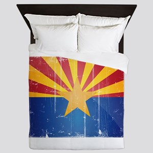 Arizona Flag Distressed Queen Duvet