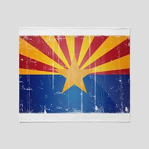 Arizona Flag Distressed Throw Blanket
