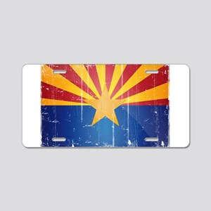 Arizona Flag Distressed Aluminum License Plate