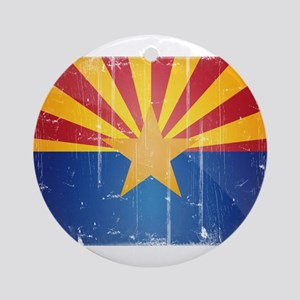 Arizona Flag Distressed Ornament (Round)