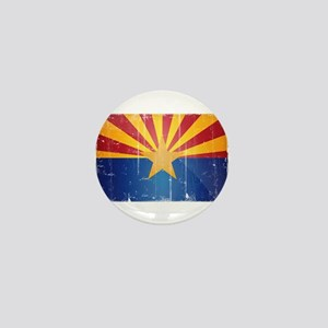 Arizona Flag Distressed Mini Button