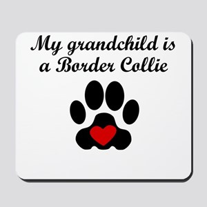 Border Collie Grandchild Mousepad
