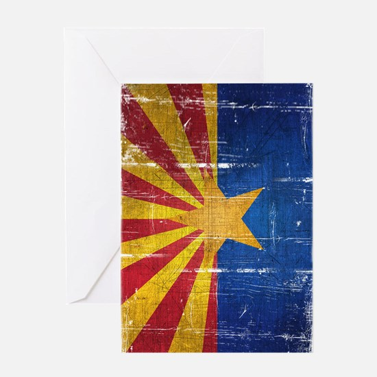 Arizona Flag Distressed Greeting Card