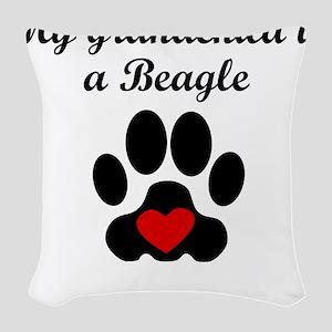 Beagle Grandchild Woven Throw Pillow