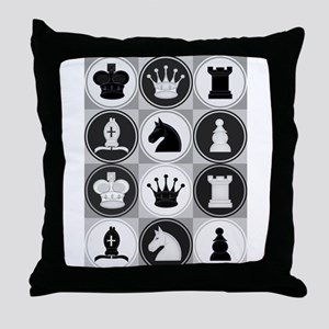 Chessboard Pattern Throw Pillow