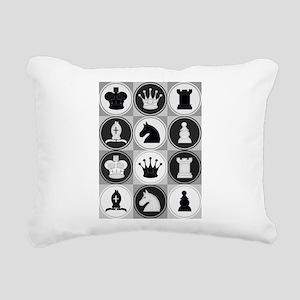 Chessboard Pattern Rectangular Canvas Pillow