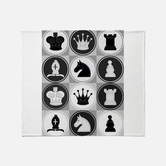 Chessboard Pattern Throw Blanket