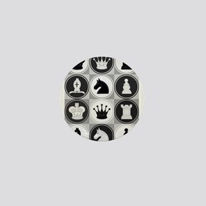 Chessboard Pattern Mini Button