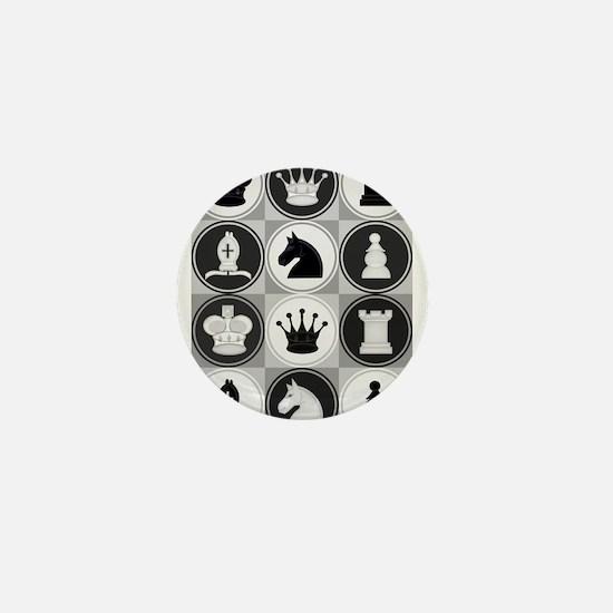 Chessboard Pattern Mini Button