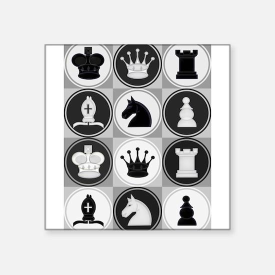 Chessboard Pattern Sticker