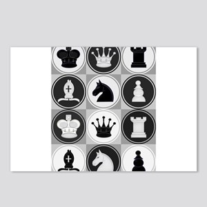 Chessboard Pattern Postcards (Package of 8)
