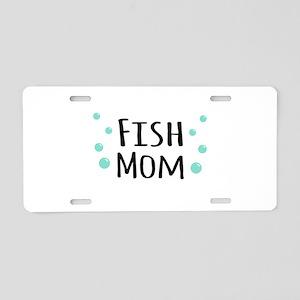 Fish Mom Aluminum License Plate
