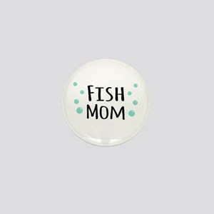 Fish Mom Mini Button