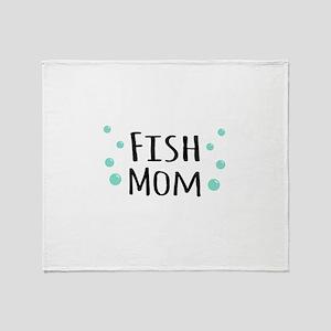 Fish Mom Throw Blanket