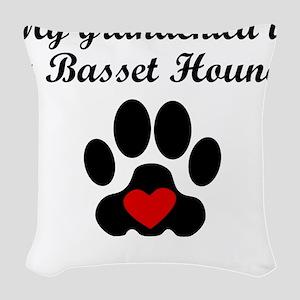 Basset Hound Grandchild Woven Throw Pillow
