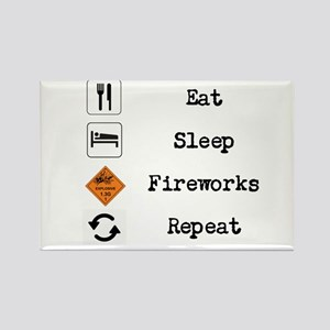 Eat, Sleep, Fireworks, Repeat Magnets