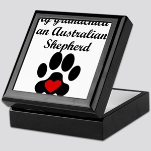 Australian Shepherd Grandchild Keepsake Box