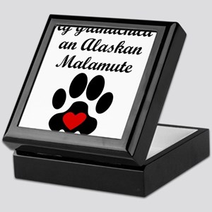 Alaskan Malamute Grandchild Keepsake Box