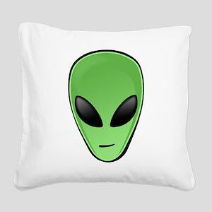 Alien Head Square Canvas Pillow