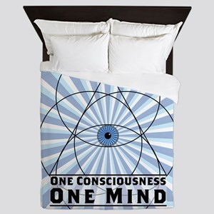 3rd Eye - One Consciousness One Mind Queen Duvet