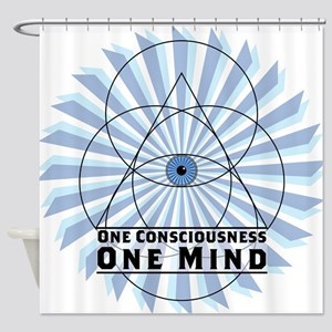 3rd Eye - One Consciousness One Mind Shower Curtai