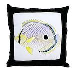 Foureye Butterflyfish Throw Pillow