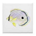 Foureye Butterflyfish Tile Coaster