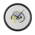 Foureye Butterflyfish Large Wall Clock