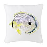 Foureye Butterflyfish Woven Throw Pillow
