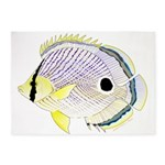 Foureye Butterflyfish 5'x7'Area Rug
