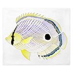 Foureye Butterflyfish King Duvet