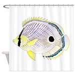 Foureye Butterflyfish Shower Curtain